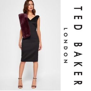 Ted Baker Belliah Bow Shoulder bodycon dress